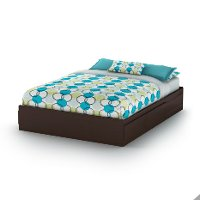 9006B1 Chocolate Queen Mates Bed (60 Inch) - Fusion