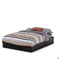 9008B1 Black Queen Mates Bed (60 Inch) - Fusion