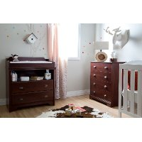 9022A2 Cherry Changing Table and 4-Drawer Chest - Fundy Tide