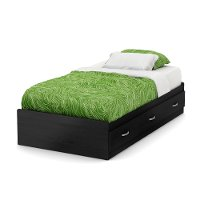 9005080 Black Twin Mates Bed with 3 Drawers (39 Inch) - Lazer