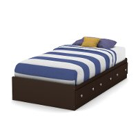 9016080 Chocolate Twin Mates Bed with Drawers (39 Inch) - Morning Dew