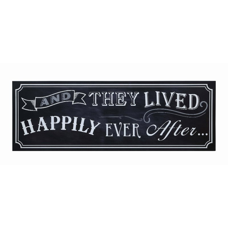 and they lived happily ever after black wooden wall decor rcwilley image1~800