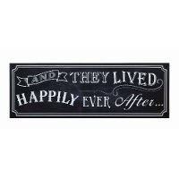 'And They Lived Happily Ever After' Black Wooden Wall Decor