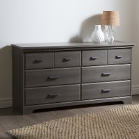 9041010 Gray Maple 6-Drawer Double Dresser - Versa