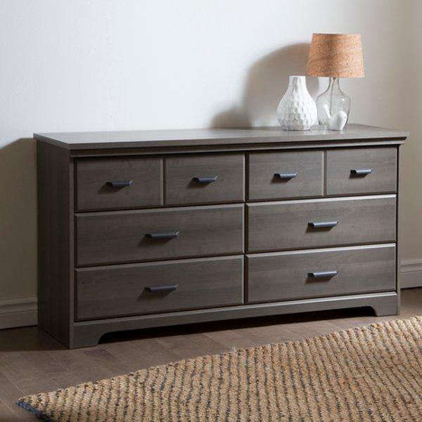 9041010 Gray Maple 6 Drawer Double Dresser Versa
