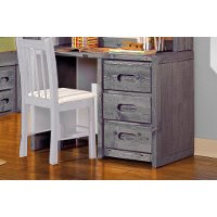 Rustic Driftwood Gray 3-Drawer Desk - Fort