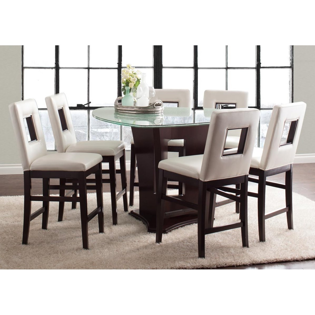 Soho Espresso 7 Piece Counter Height Dining Set | RC Willey Furniture Store