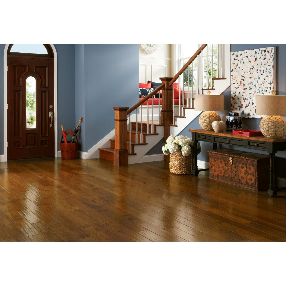 Shop hardwood floors and wooden flooring rc willey furniture store mohawk santa barbara maple hickory and oak armstrong american scrape hickory dailygadgetfo Images