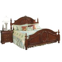Davis Queen Poster Bed Rc Willey Furniture Store