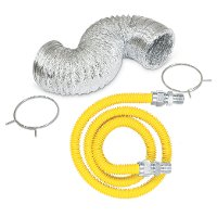 Gas Dryer Kit with Vent and 4 Foot Gas Flex Line