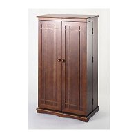 Walnut Twin Door CD-DVD Multi-Media Storage Cabinet