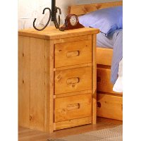 Palomino Cinnamon Rustic 3-Drawer Nightstand