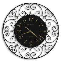 Joline Black Iron Wall Clock