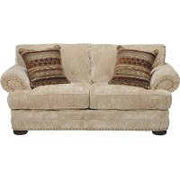 Casual Traditional Tan Loveseat - Adair