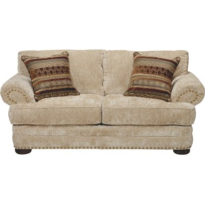 Greatest Casual Traditional Tan Sofa - Adair | RC Willey Furniture Store JV32