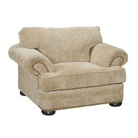 Casual Traditional Tan Chair - Adair