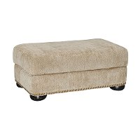 Casual Traditional Tan Ottoman - Adair