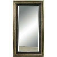 Antique Bronze and Silver Metallic Leaner Mirror