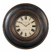 Adonis Black and Brown Wall Clock