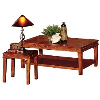 Distressed Oak 3 Piece Coffee Table Set - Odessa